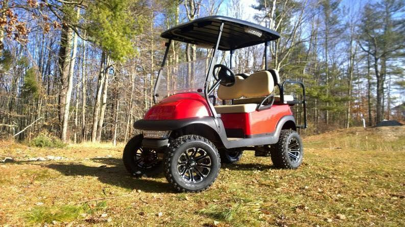 "Save $1000 CUSTOM Precedent RED Lifted 4 pass electric golf cart 6"" Lift Kit"