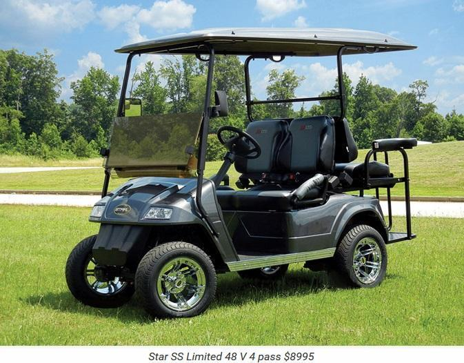 2017 Star SS Limited 48 Volt 4 Passenger Golf Cart