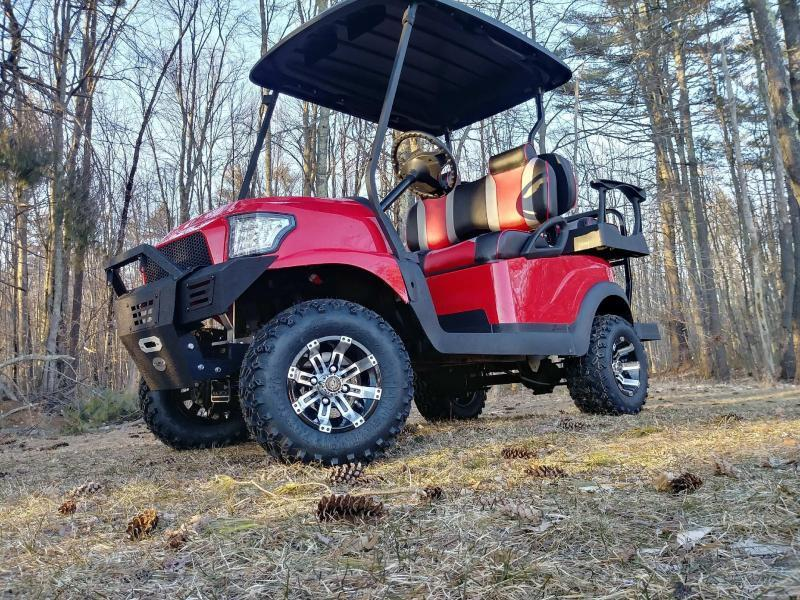 Hot Red Custom Precedent Alpha Lifted COOL Golf Cart w/warranty