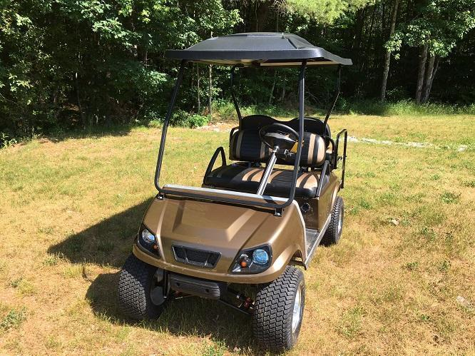 Club Car DS Spartan Custom Bronze Metallic lifted Electric Golf Cart 4 passenger