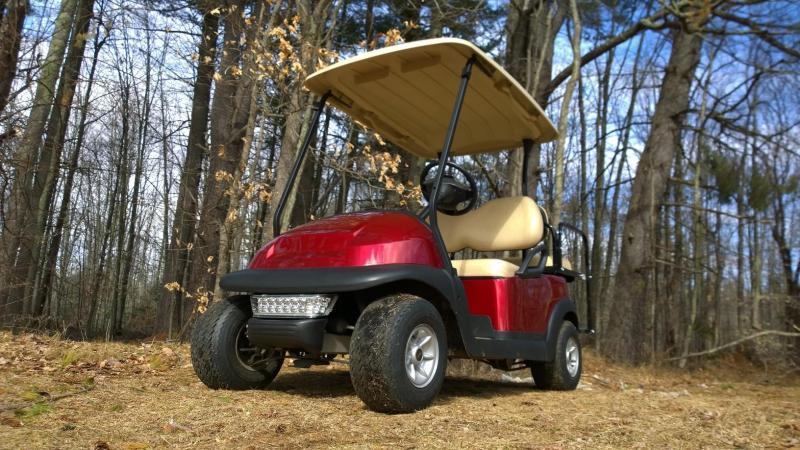Candy Apple Red Metallic Club Car Electric 4 Pass Golf Cart