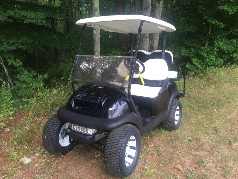 Club Car Precedent Electric 4 Passenger Golf Cart BLACK w/lift kit