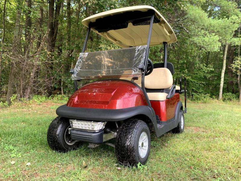 2018 Candy Apple Red Metallic Club Car Electric 4 Pass Golf Cart