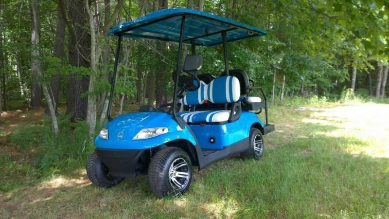Save $1000! NEW Advanced 4 pass 25 MPH Blue electric golf car 3 yr wr
