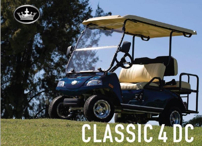 2019 Evolution Classic 4 pass golf cart 22 MPH NAVY BLUE LOADED