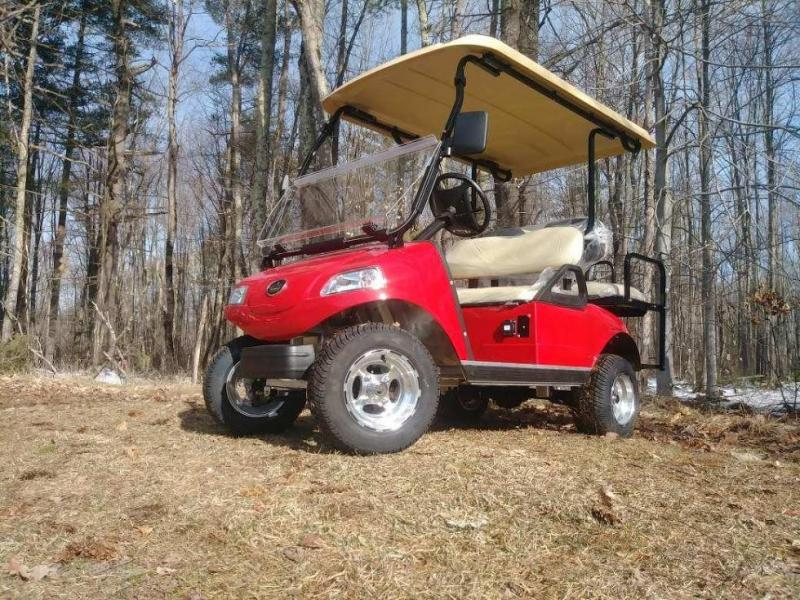 2018 Evolution Classic 4 pass golf cart-RED 2yr warranty $5999