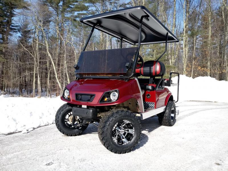 GAS CUSTOM Club Car DS Spartan Metallic GARNET 4 pass w/LIFT KIT