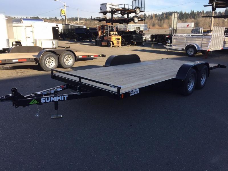 Summit A4TB718TA2-RF Flatbed Trailer