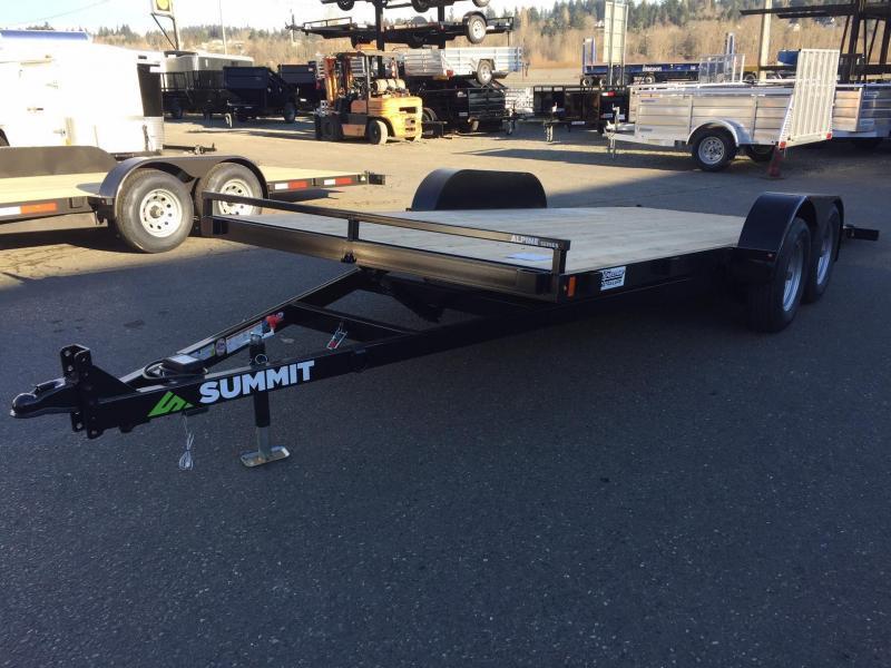 Summit Alpine 7' X 18' A4TB718TA2-RF Alpine Tiltbed Trailer