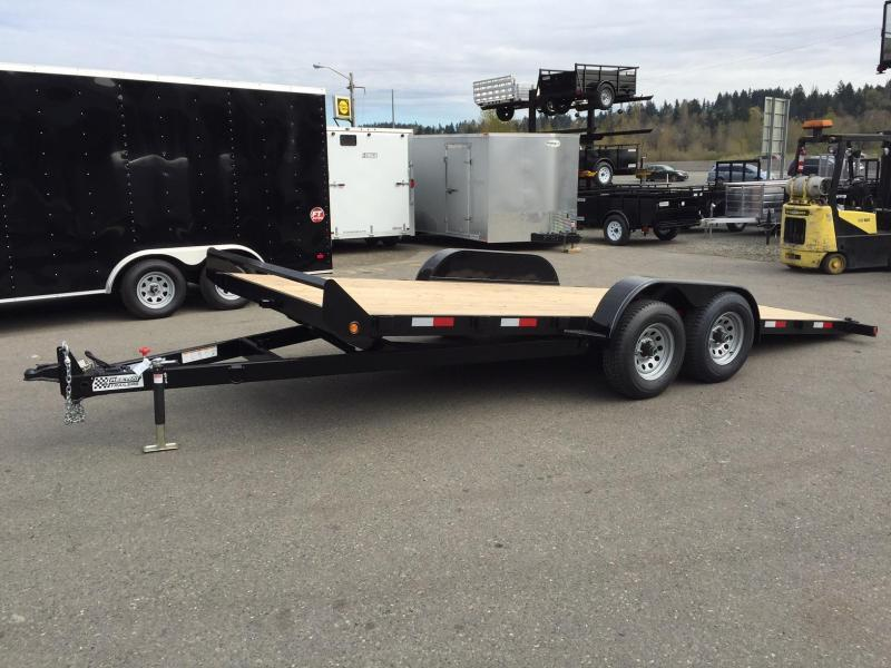 2020 Eagle Trailer 7' X 18' ETB718TA3 Eagle Tilt Bed Flatbed Trailer
