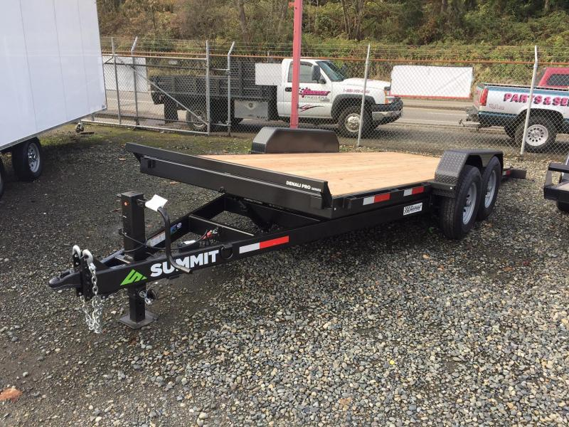 2019 Summit DENALI PRO DPTB718TA5 Flatbed Trailer