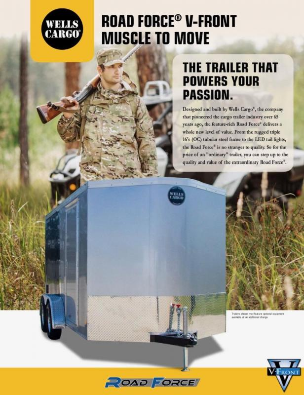 2019 Wells Cargo Road Force V-Nose Enclosed Cargo Trailer