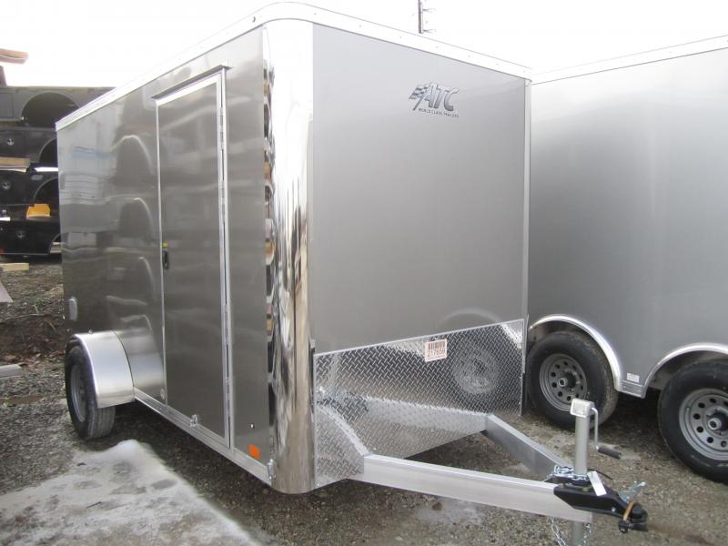 Aluminum Trailer Company 6X12 ALUMINUM PEWTER RAMP DOOR Enclosed Cargo Trailer