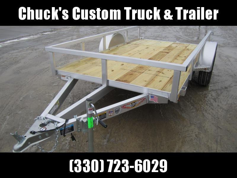 2019 H and H Trailer 5.5X10 ALUMINUM TUBE TOP Utility Trailer
