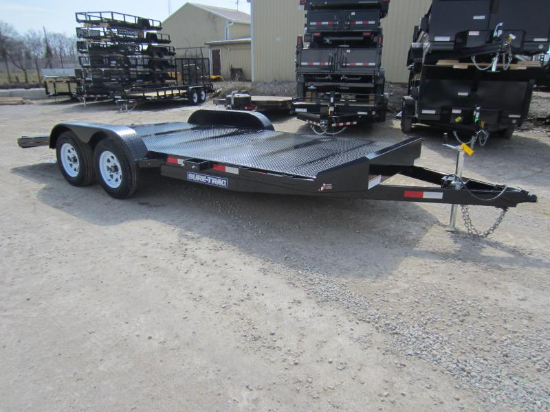 2018 Sure-Trac 7 x 18 Steel Deck Car Hauler 7k