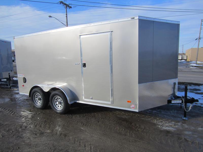 2018 Bravo Trailers 7X14 SCOUT PEWTER RAMP DOOR Enclosed Cargo Trailer