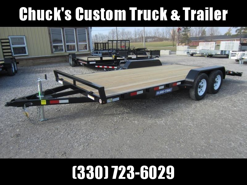 Sure-Trac 7 X 18 Wood Deck Car Hauler 7k