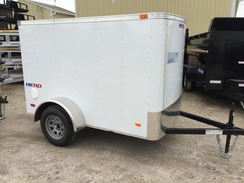 2019 Bravo Trailers 5X8 HERO BY BRAVO SWING DOOR Enclosed Cargo Trailer