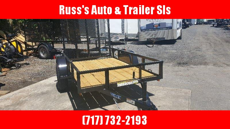 2019 Top Hat 5X8 Express Angle Utility Trailer-Black