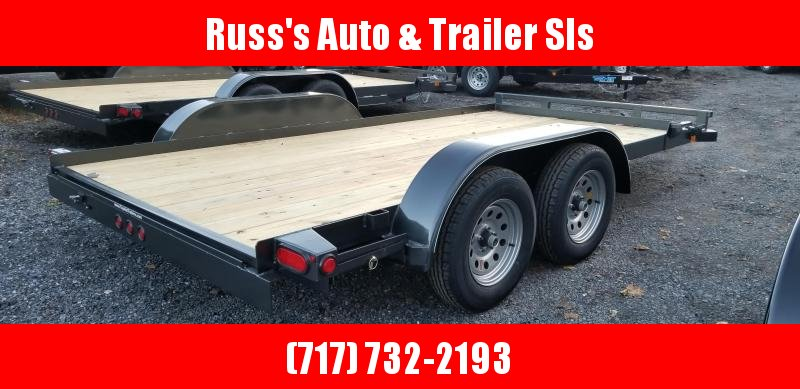 2019 Top Hat Trailers 7x14 Carhauler 7K Slide-In Ramps