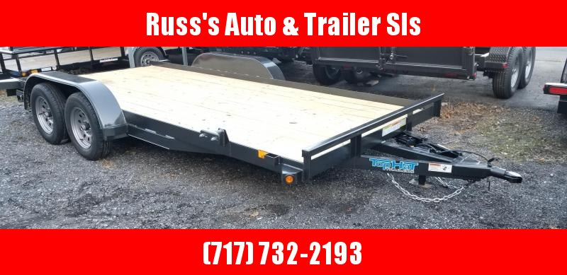 2019 Top Hat 7X16 Car hauler Trailer 7K Slide-In Ramps