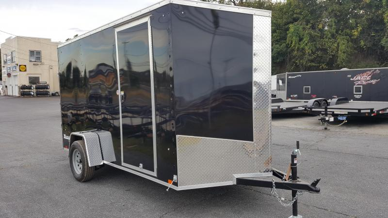2018 Cargo Express XLW SE 6 X 12 Enclosed Trailer W/Ramp Door- Black