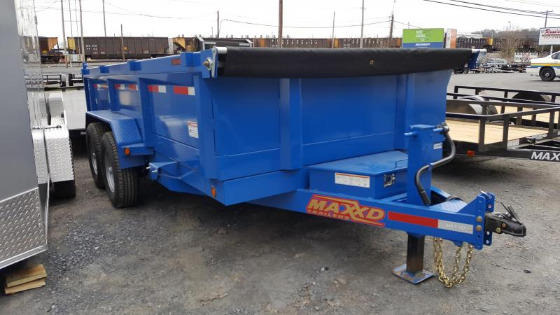 2018 Maxxd  7X14 D8X Dump Trailer HD w/ 7' Slide-In Ramps-SIGNAL BLUE