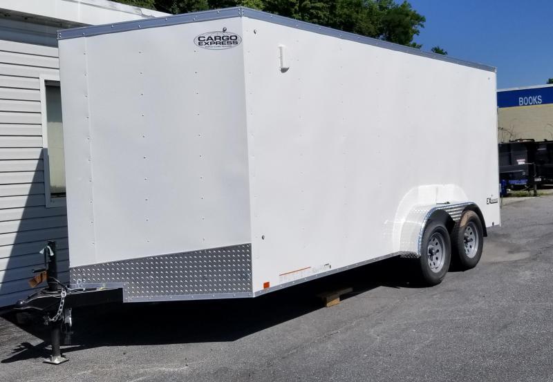 2019 Cargo Express 7 X 16 EX DLX  Enclosed Trailer