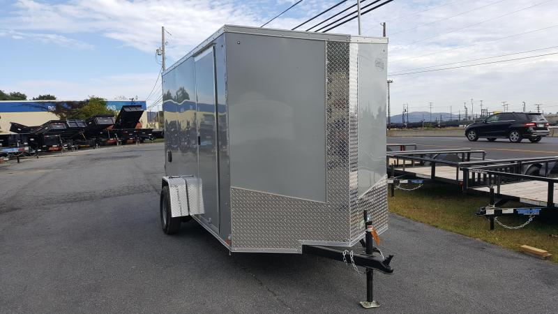 2018 Cargo Express XLW SE 6 X 12 Enclosed Trailer w/ Ramp Door - Silver