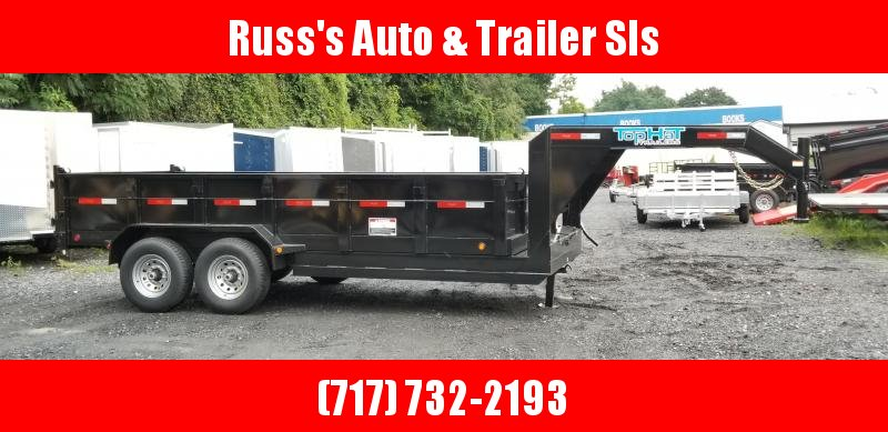 2019 Top Hat Trailers 7X16 GN DP140 Dump Trailer 14K