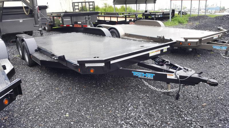 2018 Top Hat Trailers Steel Deck 7 X 18 Car Hauler