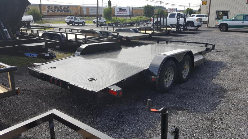 2018 Top Hat Trailers Steel Deck 7 X 18 Car Hauler w/ Chrome Pkg