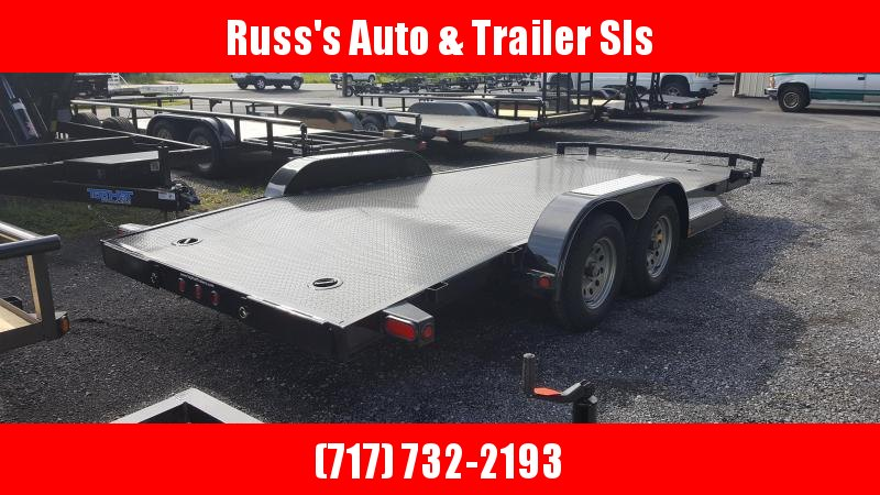 2018 Top Hat Trailers Steel Deck 7 X 18 Car Hauler w/ Chrome Pkg