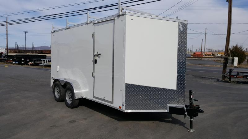 2019 Cargo Express 7 X 14 XLW SE Ramp Door 4 Ladder Racks!!