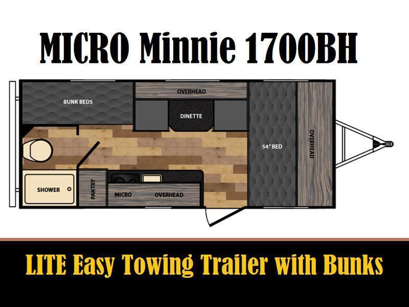 Popular 2017 Used Winnebago MICRO MINNIE 1700BH Travel Trailer In Indiana IN