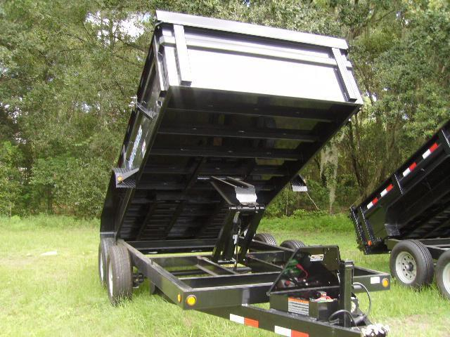7x14 Load Trail Trailers Tandem Axle Dump Trailer (with scissor lift)