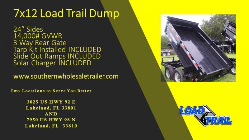 7x12 Load Trail Trailers Tandem Axle Dump Trailers TARP KIT INCLUDED