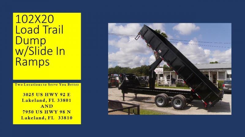 8.5x20 Load Trail Trailers Gooseneck Dump Trailer