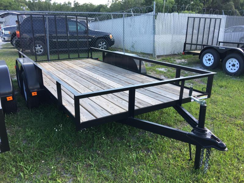 2018 Triple Crown 6x14 Tandem Axle Open Utility Trailer
