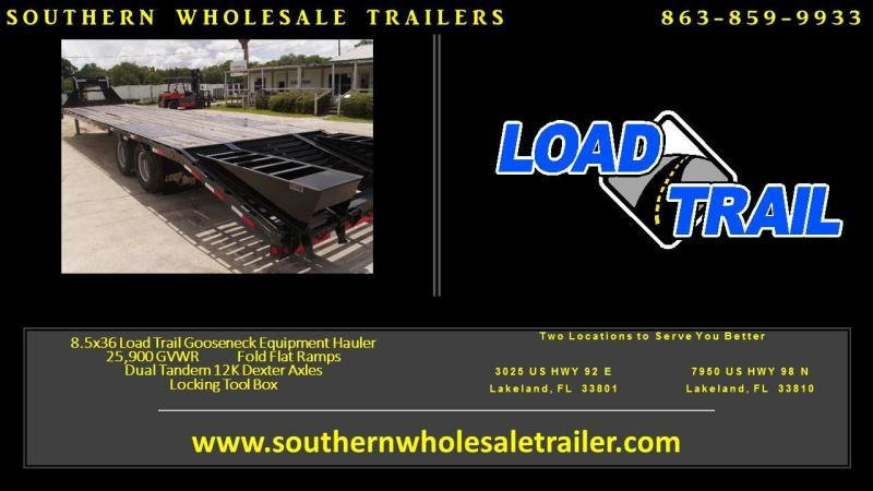 8.5x36 Load Trail Trailers Gooseneck Equipement  Trailer