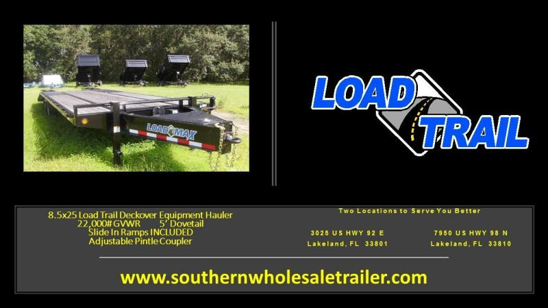 8.5x25 Load Trail Trailers Deckover Equipment Trailer [22000# GVWR] Heavy Duty