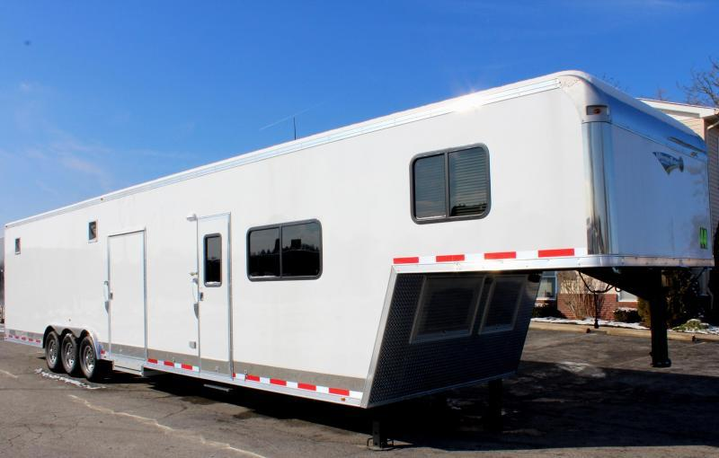 <b>Now Available</b>  2019 44' Millennium Silver 12'XE Living Quarter Trailer