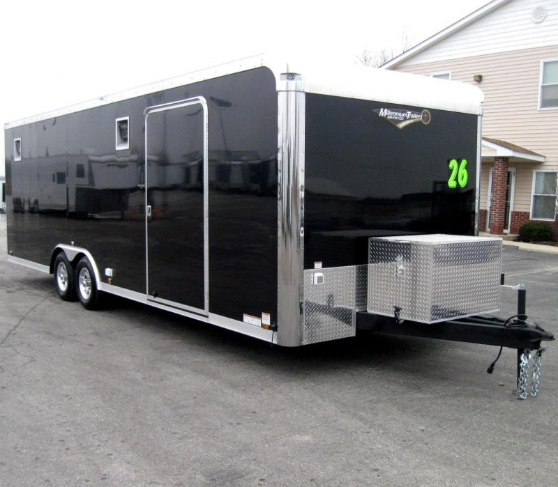 26' Millennium Enclosed Race Car Trailer w/Front Generator Box LOADED