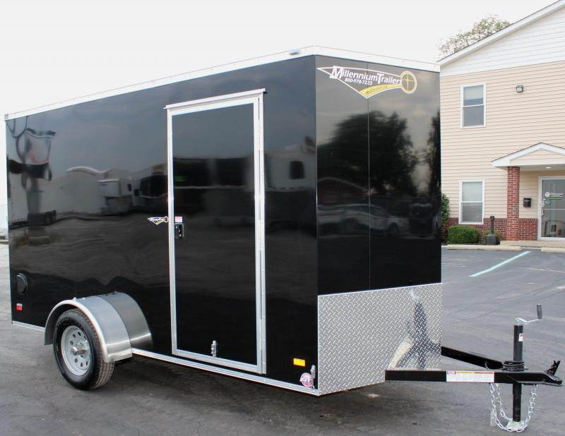 2020 6'x12' Scout Black Enclosed Cargo Trailer with Plus Package Free Options
