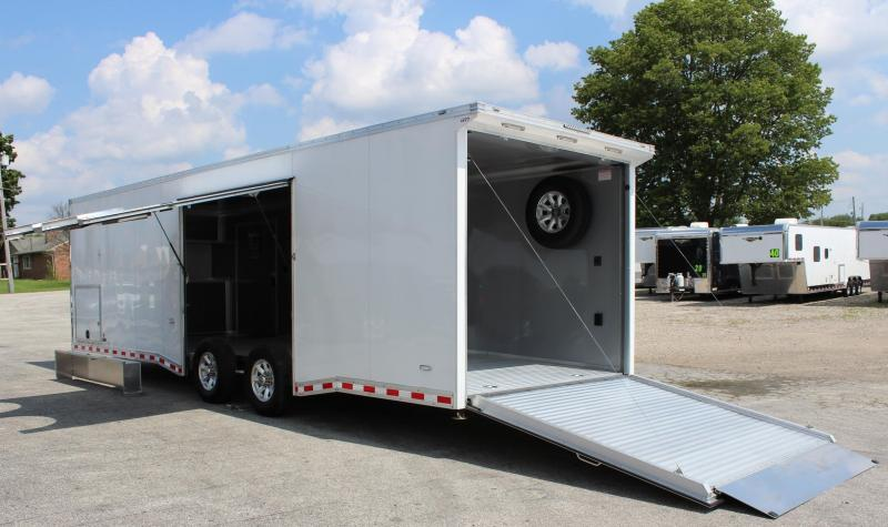 2021 28' All Aluminum with Escape Door w/Removable Wheel Box & Wing  & Extruded Floor