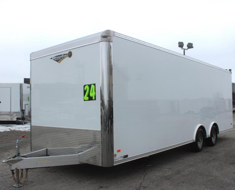 <b>EXTREME LITE</b> LOW PRICE ALL ALUMINUM FRAME  24' Millennium Extreme Lite Car / Racing Trailer