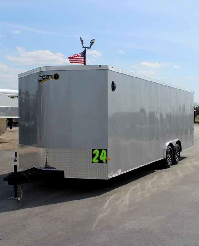 <b>Now Available</b>  2020 24' Transport V Car Trailer w/Heavy Duty 5200# Axles/ Screwless Exterior/ 6
