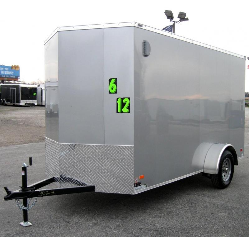 6'x12' Scout Silver Enclosed Cargo Trailer with Plus Package & Free Options 6
