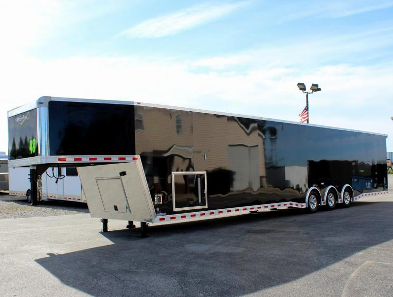 2020 48' Millennium Extreme Gooseneck Race Trailer w/Tapered Nose/Charcoal Cabinets