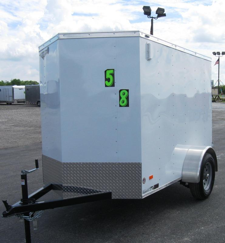 """<b>Fall Clearance Save $200</b> 2017 5'x8' Scout Enclosed Cargo Trailer Double Doors 6"""" Extra High"""